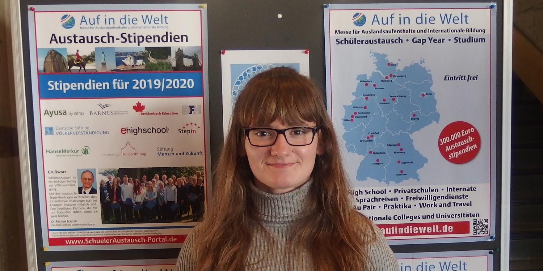 Charlyn ist derzeit als FSJlerin für den Schüleraustausch aktiv (Foto: Dt. Stiftung Völkerverständigung)